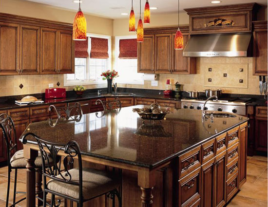 Silver star marble granite kitchen countertop - Counter island designs ...